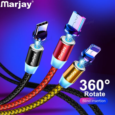 Marjay Magnetic USB Fast Charging Cable For Smart Phone