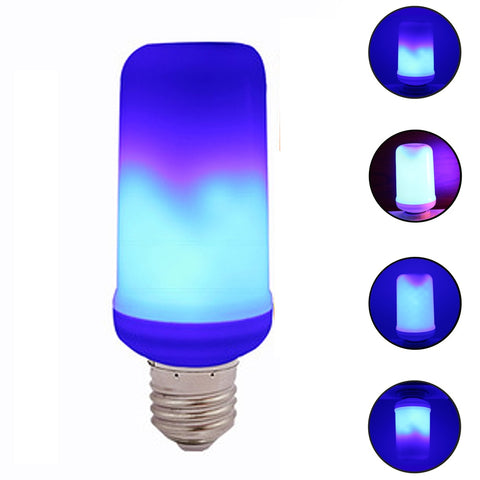 E27 LED Dynamic Flame Effect Corn Bulb 4 Modes AC 85-265V Flickering Emulation Gravity Decor Lamp Creative Fire Lights