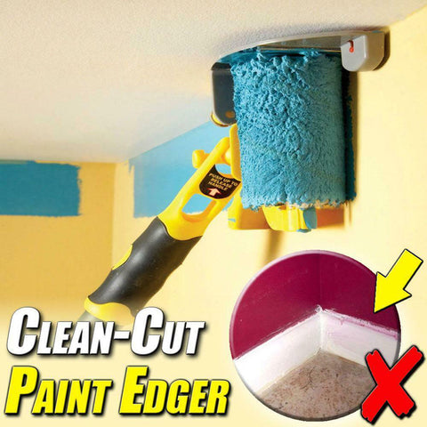 Paint Brush Set Clean-Cut Paint Edger Roller Brush Safe Tool Portable for Home Room Wall Ceiling Chalk Sponge Paint Brush Holder