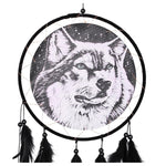 Attrape Rêve Loup Gris | Animal Totem Shop