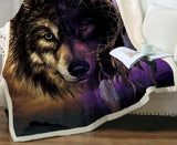 Plaid Loup Attrape Rêve | Animal Totem Shop