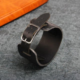 Bracelet Loup Cuir Noir | Animal Totem Shop