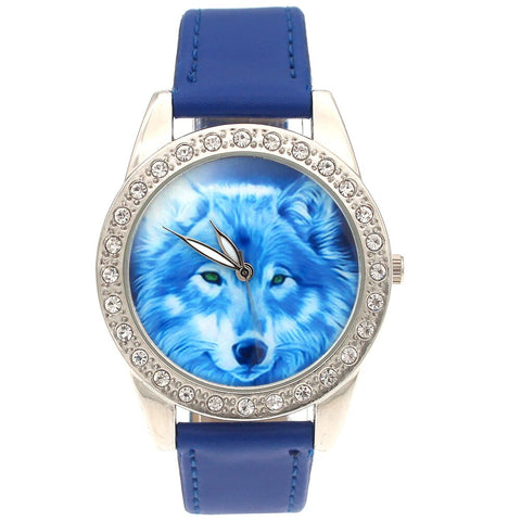 Montre Loup Cadran Cristal | Animal Totem Shop