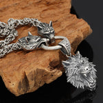Collier Loup Homme (Argent) | Animal Totem Shop