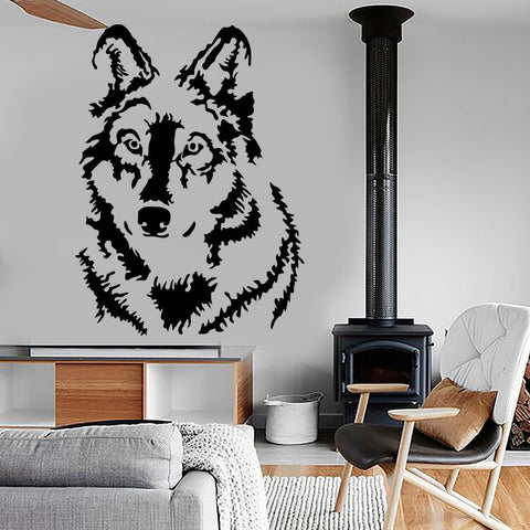 Sticker Loup Gris