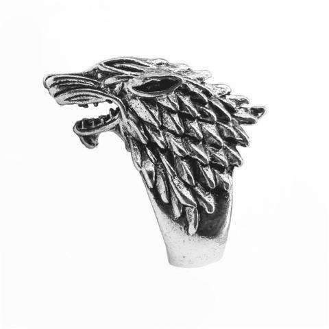 Bague Loup Biker | Animal Totem Shop