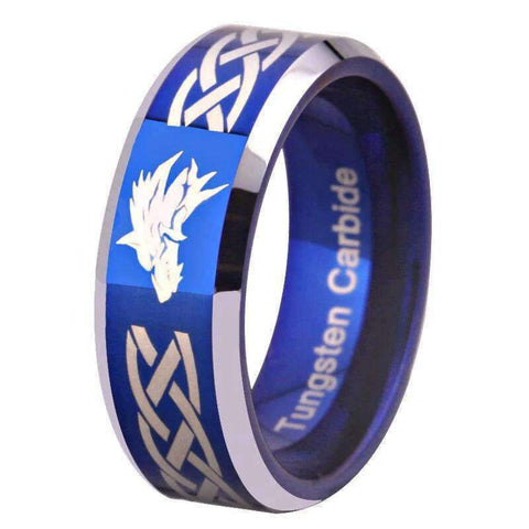Bague Loup Bleu | Animal Totem Shop