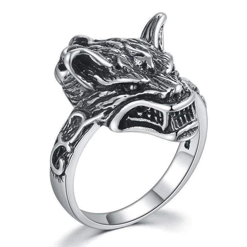 Bague Loup Démon | Animal Totem Shop