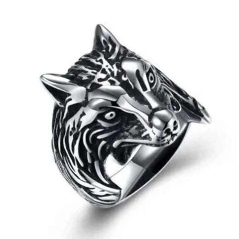 Bague Loup Gothique | Animal Totem Shop