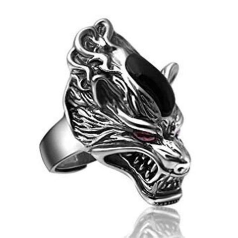 Bague Loup Maudite | Animal Totem Shop