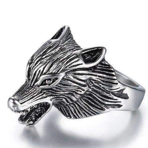 Bague Loup Tribal | Animal Totem Shop