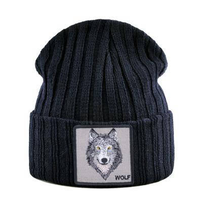 Bonnet Loup Motif | Animal Totem Shop