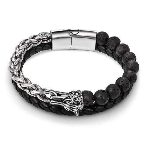 Bracelet Loup Rétro | Animal Totem Shop