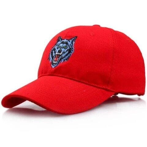 Casquette Loup Garou Rouge | Animal Totem Shop