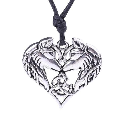 Collier Loup Coeur | Animal Totem Shop