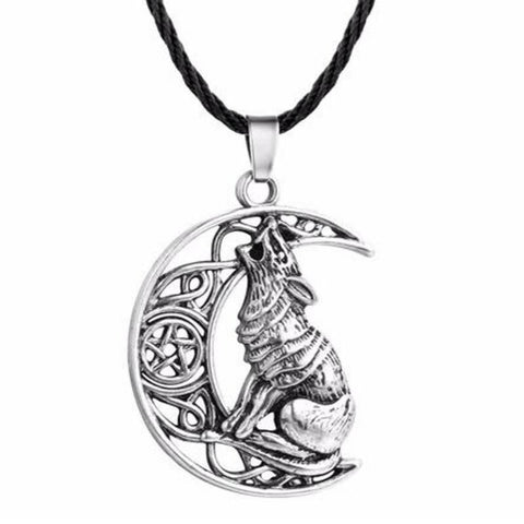 Collier Loup Lune | Animal Totem Shop