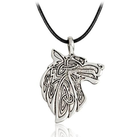 Collier Tête de Loup Nordique | Animal Totem Shop