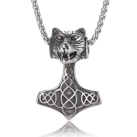 Collier Tête de Loup Viking | Animal Totem Shop