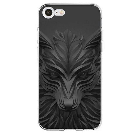 Coque Iphone 3D Loup Noir | Animal Totem Shop