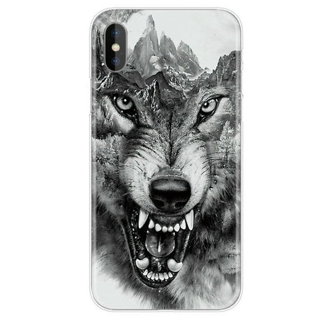 Coque Iphone Loup Gris | Animal Totem Shop