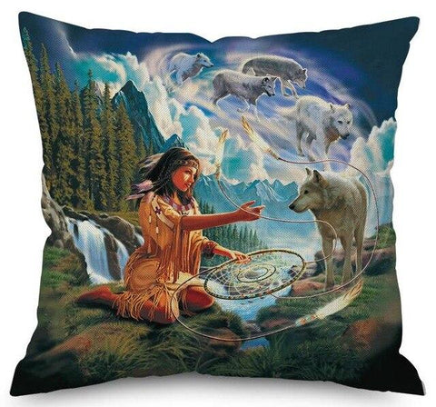 Coussin Loup Animal | Animal Totem Shop
