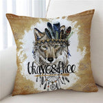 Coussin Loup Attrape Rêve | Animal Totem Shop