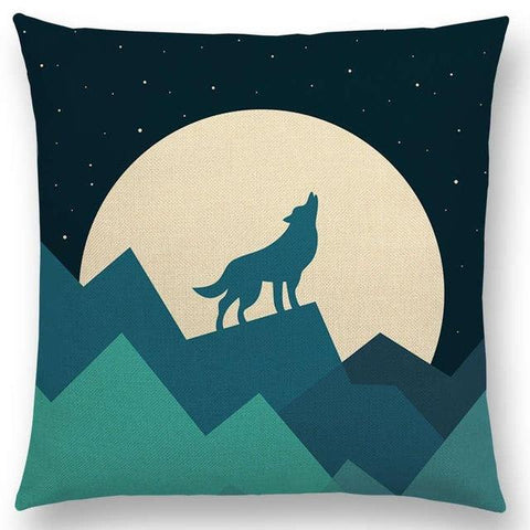 Coussin Loup Dessin | Animal Totem Shop