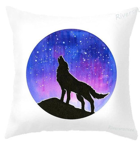 Coussin Loup Galaxie | Animal Totem Shop