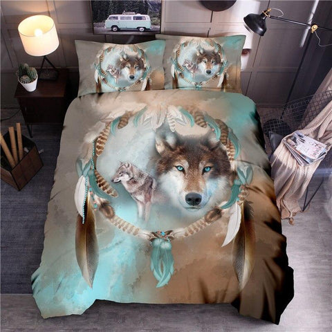 Housse de Couette Loup Impression | Animal Totem Shop