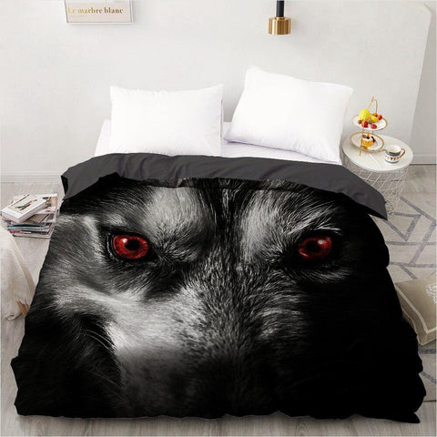 Housse de Couette Regard du Loup | Animal Totem Shop
