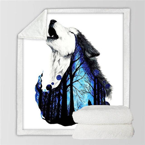 Plaid Loup Hurlement | Animal Totem Shop