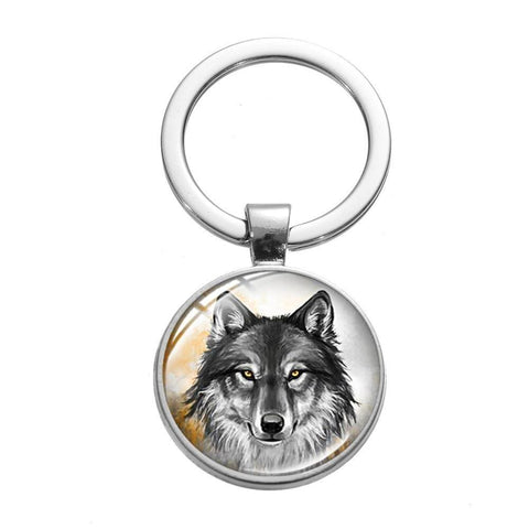 Porte Clé Loup Gris | Animal Totem Shop