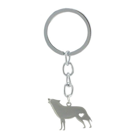 Porte Clé Loup Hurlement | Animal Totem Shop