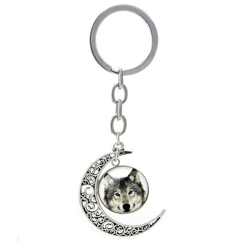 Porte Clé Loup Lune | Animal Totem Shop