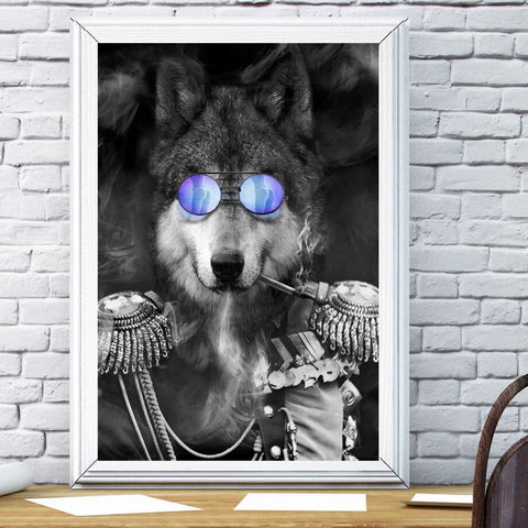 Poster Loup Drôle | Animal Totem Shop