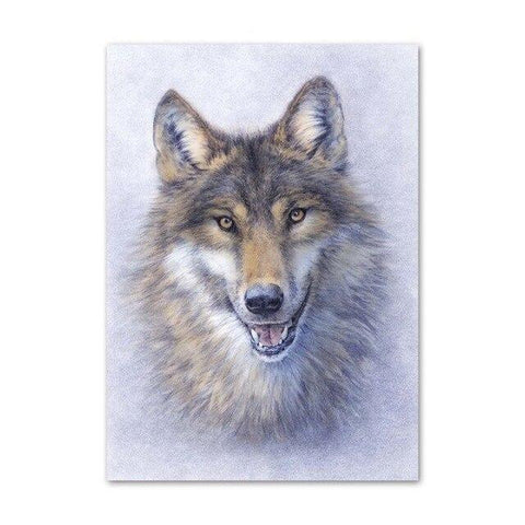 Poster Loup Gris | Animal Totem Shop
