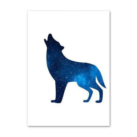 Poster Loup Hurlant | Animal Totem Shop