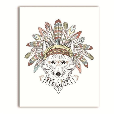 Poster Loup Indien | Animal Totem Shop