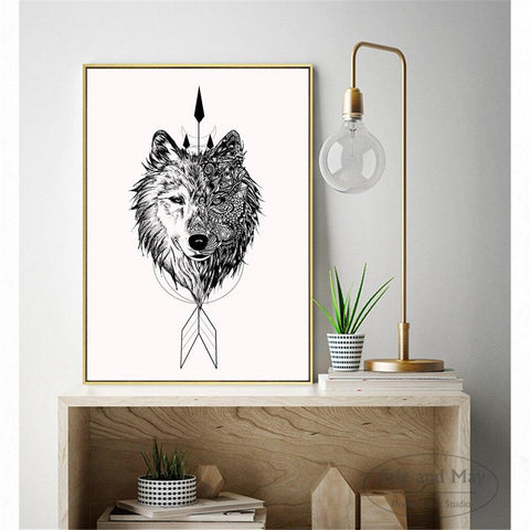 Poster Loup Mandala | Animal Totem Shop