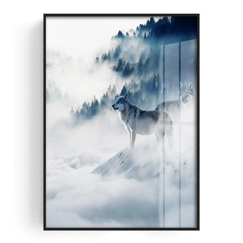 Poster Loup Montagne | Animal Totem Shop