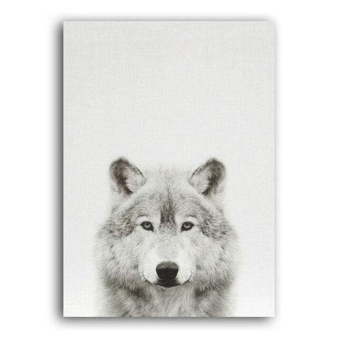 Poster Tête de Loup Gris | Animal Totem Shop