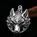 Collier Loup Tribal (Acier) | Animal Totem Shop
