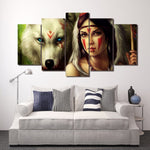 Tableau Loup Indien | Animal Totem Shop