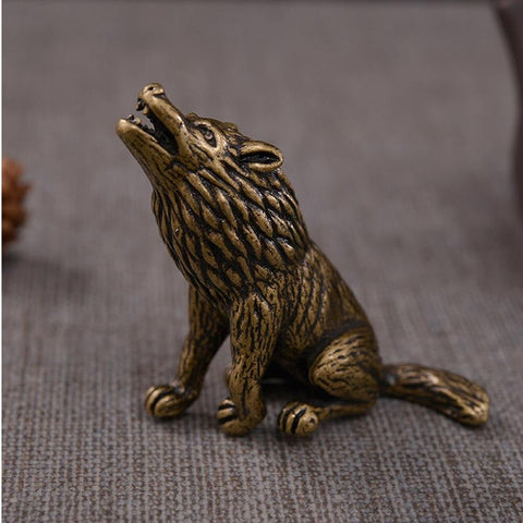 Statue Loup Cuivre | Animal Totem Shop