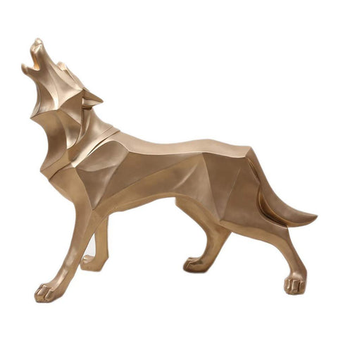 Statue Loup Origami | Animal Totem Shop