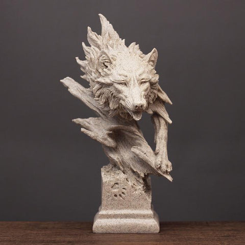 Statue Loup Sculpture | Animal Totem Shop