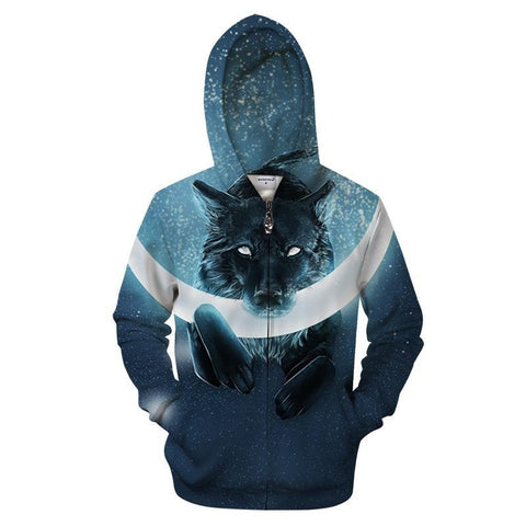 Sweat Loup Capuché | Animal Totem Shop