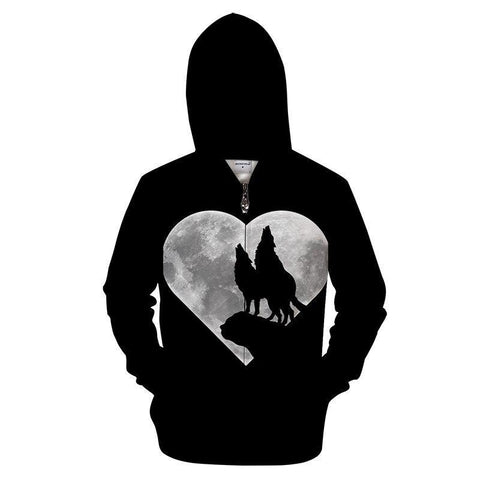 Sweat Loup Coeur | Animal Totem Shop