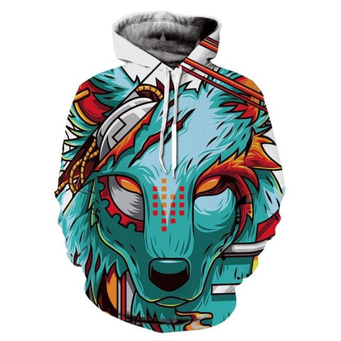 Sweat Loup Dessin Tribal | Animal Totem Shop