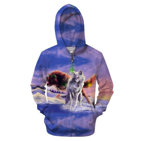 Sweat Loup et Renard | Animal Totem Shop